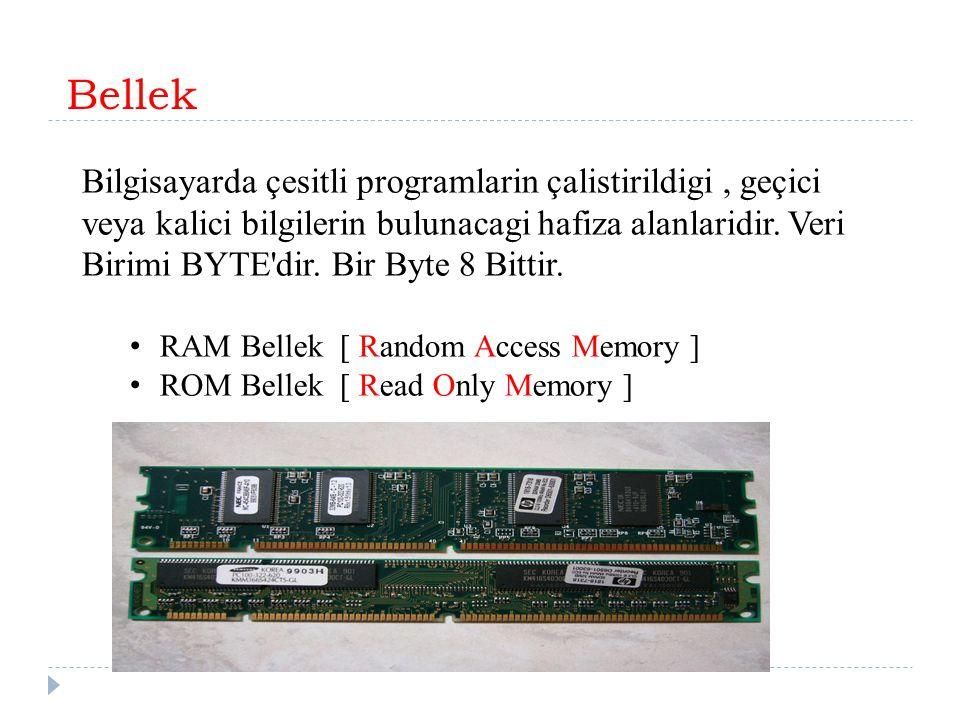 Bellek RAM Bellek [ Random Access Memory ]
